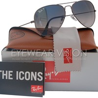 Cheap Ray-Ban RB3025 Aviator Polarized Sunglasses Gunmetal w/Blue/Grey Gradient 004/78 outlet