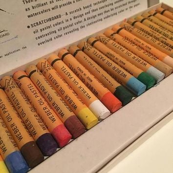 Vintage Weber Artists Oil Pastel Set 25 Colors F. Weber Co. Art Supplies
