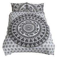 National Style Mandala Bedding Set Boho Duvet Cover Pillow Shams Bedclothes 2 or 3Pcs Twin Full Queen California King Size