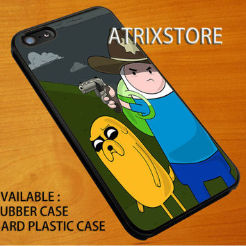 adventure time walking the dead,Accessories,Case,Cell Phone,iPhone 5/5S/5C,iPhone 4/4S,Samsung Galaxy S3,Samsung Galaxy S4,Rubber,09-07-5-Rk