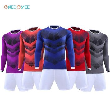 Onedoyee Men's Goalkeeper Jerseys Uniforms Long Sleeved Adults Teens Football Jerseys Soccer Set Custom Football Training Suits