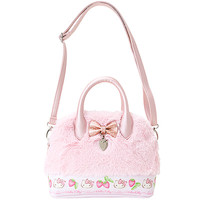 Buy Sanrio Hello Kitty Bow and Charm Mini Faux Leather & Plush Fur Handbag at ARTBOX