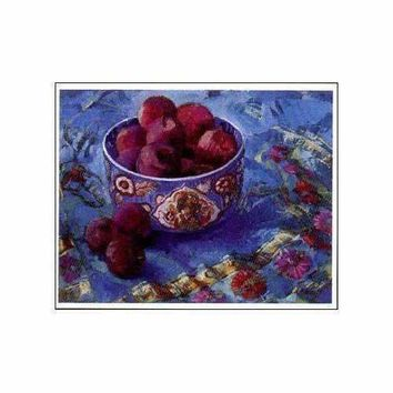 Chinese Bowl with Plums