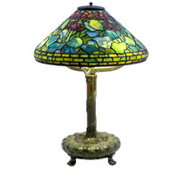 "Louis Comfort Tiffany, Tiffany Studios New York ""Geranium"" Lamp, 1906-1910"