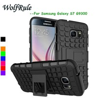WolfRule sFor Case Samsung Galaxy S7 Case Soft Silicon & Hard Plastic Case For Samsung Galaxy S7 Cover For Samsung S7 G9300 >