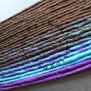 SALE! - Custom Brown Turquoise and Purple SE or DE Synthetic Dreads - Dreadlock Accent Kit Choose Your Quantity!