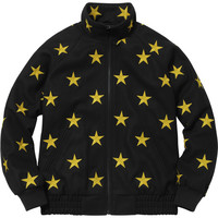 Supreme: Stars Zip Stadium Jacket - Black