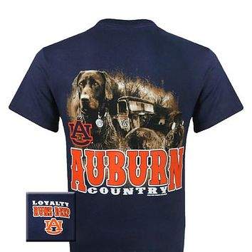 Auburn Tigers War Eagle Loyalty Runs Deep Dog Country Unisex Bright T Shirt