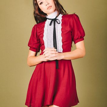 Jolie Dress (Maroon)