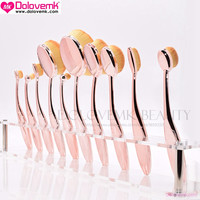 Dolovemk 10Pcs/Set Beauty Makeup Brushes Brush Oval Shape Multi-purpose Toothbrush Foundation/Contouring Face BB Cream Brushes