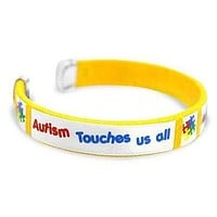 Autism ASD Touches Us Bangle Bracelet