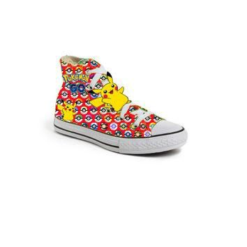 Red Limited edition POKEMON BALL PIKACHU birthday inspired shoe (NON-CONVERSE)