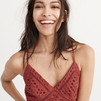 Womens Lace Cropped Top | Womens Tops | Abercrombie.com