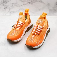 Versace Chain Reaction Cross Chainer Orange Sneaker - Best Deal Online