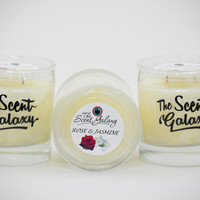 Rose & Jasmine Fragrance in Palm Wax , Highly Scented Candle