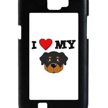 I Heart My - Cute Rottweiler Dog Galaxy Note 2 Case  by TooLoud
