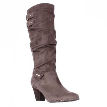 Dr. Scholls Covet Slouch Mid-Calf Boots - Stucco
