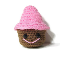 Crochet Cupcake  - Amigurumi Cupcake - Play Food - Cupcakes - Frosted Donuts - Cupcake Plushie - Rattle Toy -