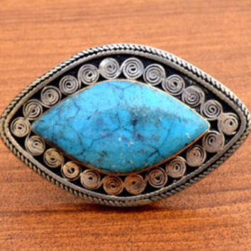 Turquoise Coral Ring,Healing Stone Ring,Tibetan Ring,Nepali Ring,Ethnic Carve Ring,Nepalese Ring,Hippy Jewelry,Bohemian Ring,Gypsy Boho Ring