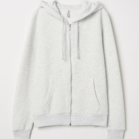 Hooded Jacket - Light gray melange - Ladies | H&M US