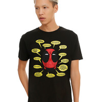 Marvel Deadpool Word Bubbles T-Shirt