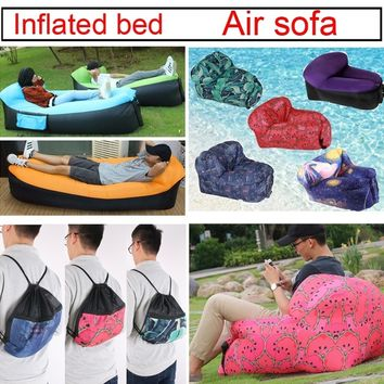 Fast Inflate Bed Portable Beach & Pool Floats Outdoors Inflatable Pillow Mat