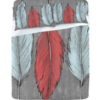 DENY Designs Home Accessories | Wesley Bird Feathered Sheet Set