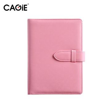 CAGIE A5 Fashion Spiral Pu Leather Notebook Candy Colors Women Personal Diary Planner Agenda Filofax Sketchbook Travel Journal