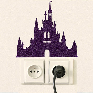 Princess Castle Fabric Decal - Velvet Wall Decal Sticker - Castle Wall Decor -  Disney Laptop Sticker - Movie Stickers