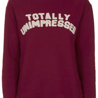 Totally Unimpressed Sweatshirt by Tee and Cake - Red