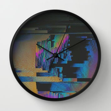 Bismuth Crystal Wall Clock by Ducky B