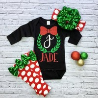 US Christmas Baby Clothes Romper+Leg Warmers Newborn Baby Boy Girl Outfits Set