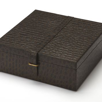 BUTLER AMBRA LEATHER STORAGE BOX