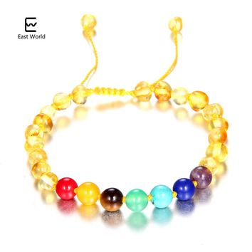 EAST WORLD Chakra Healing Amber Bracelet Baby Women Gifts Handmade Amber Beads Jewelry for Etsy Natural Baltic Ambra Bead Anklet