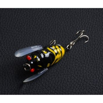 11 Colors 3D Eye cicada Insects Popper Lifelike Fishing tackle Mepps 4cm / 4.4g  5cm / 6g peche Wobbler Lure Crank Floating wate