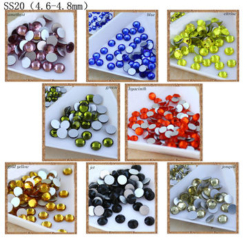 new deals 1440pcs pack SS20 crystal with glue on flatback M-foild non-hotfix clear crystal facted rhinestone