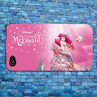 Pink Disney Little Mermaid iPhone Case Cute Ariel Ocean Water Sweet Girly Phone Case iPhone 4 iPhone 5 iPhone 4s iPhone 5s iPhone 5c Case