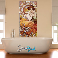 Graphic Wall Decal Sticker Pierre Topaza by Mucha #GWray115