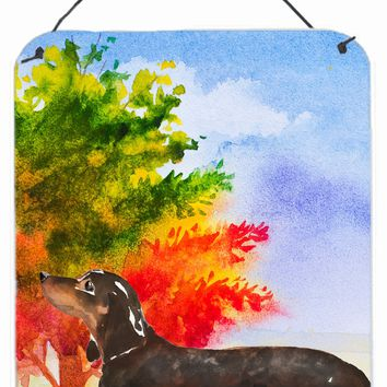 Fall Dachshund Wall or Door Hanging Prints CK1958DS1216