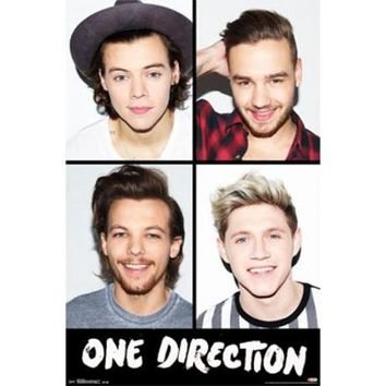 One Direction 1D - Grid Poster Print (24 x 36) - Walmart.com