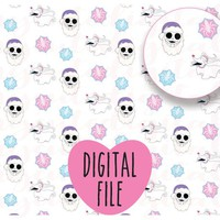 Snowflake Nightmare Before Christmas Digital Vellum, Jack and Zero Digital Paper