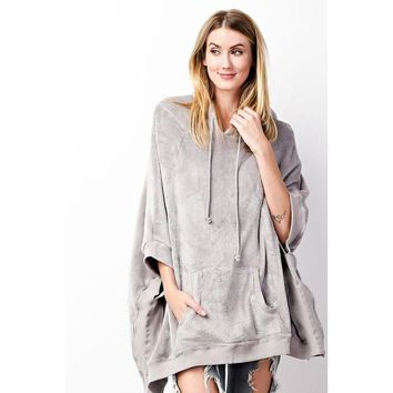 The Extra cozy fleece poncho hoodie