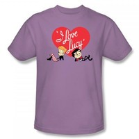 I Love Lucy - Content Adult T-Shirt In Lilac