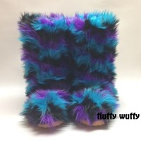 Blueberry Blast Fluffy Wuffy boots