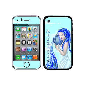 Aquarius Water Bearer Zodiac - Horoscope Astrology Sign Galaxy iPhone 3G-3GS Skin
