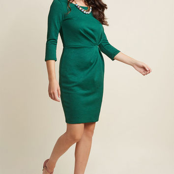 Raise Some Wows Sheath Dress in Emerald