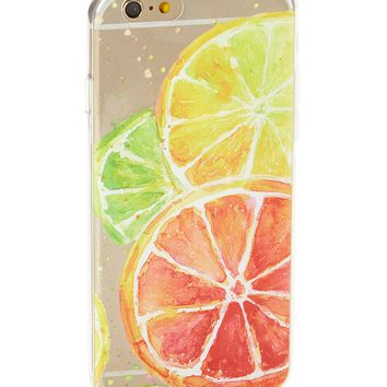 Clear Citrus Squeeze Soft Case for iPhone 5 / 5S & SE
