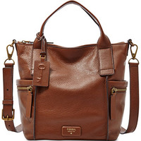 Fossil Emerson Medium Leather Satchel | macys.com