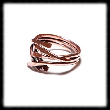 Three Wire Copper Free Form ring