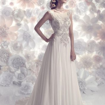 CB Couture B086 Beaded Silk A-Line Wedding Dress